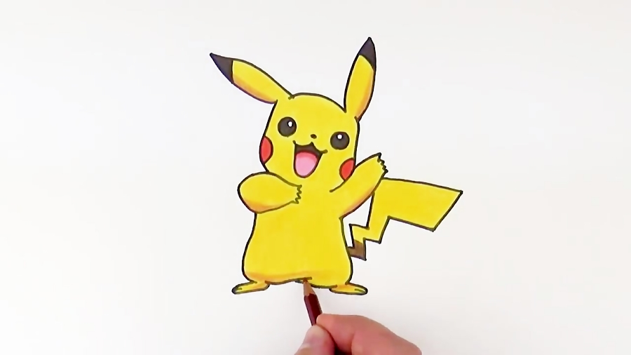 How to Draw Pikachu Pokemon | Drawing and Coloring Pokemon Art Tutorial