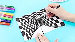 آموزش 13 نقاشی جالب هنری...