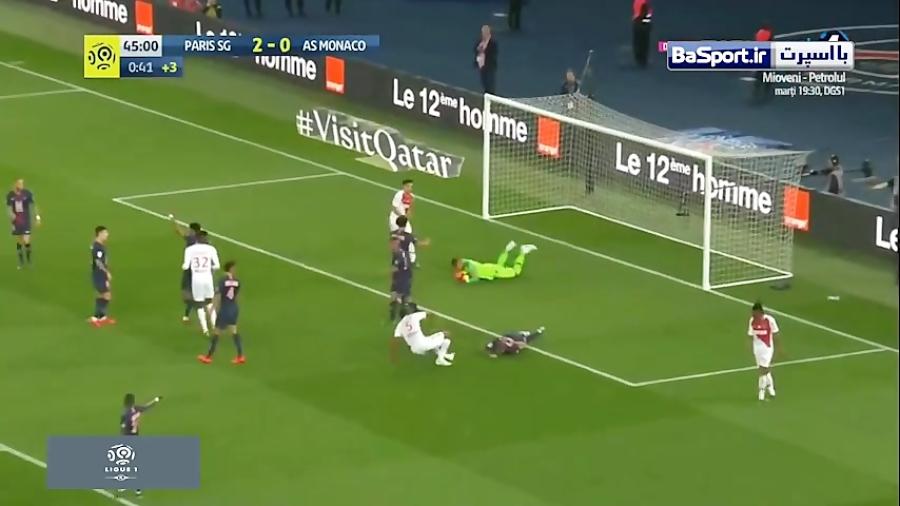 خلاصه بازی پاری سن ژرمن 3-1 موناکو (هتریک امباپه)