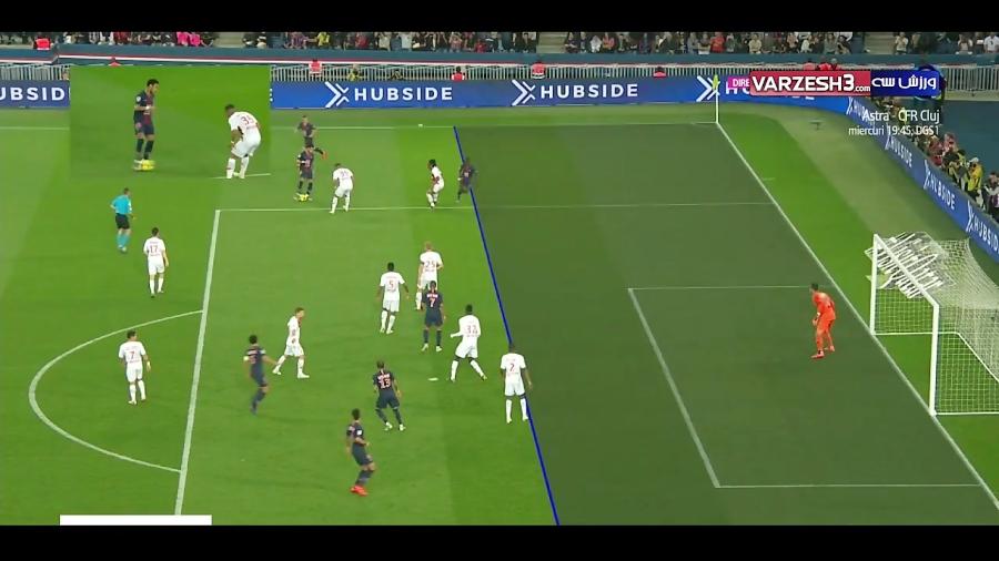 خلاصه بازی پاری سن ژرمن 3 - 1 موناکو 1(هتریک امباپه)