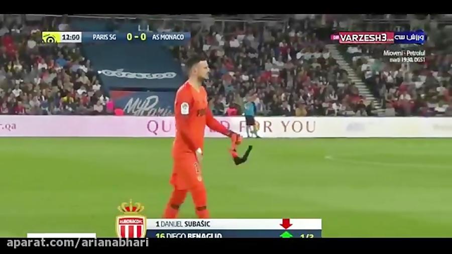 خلاصه بازی پاری سن ژرمن 3 - موناکو 1 (هتریک امباپه)