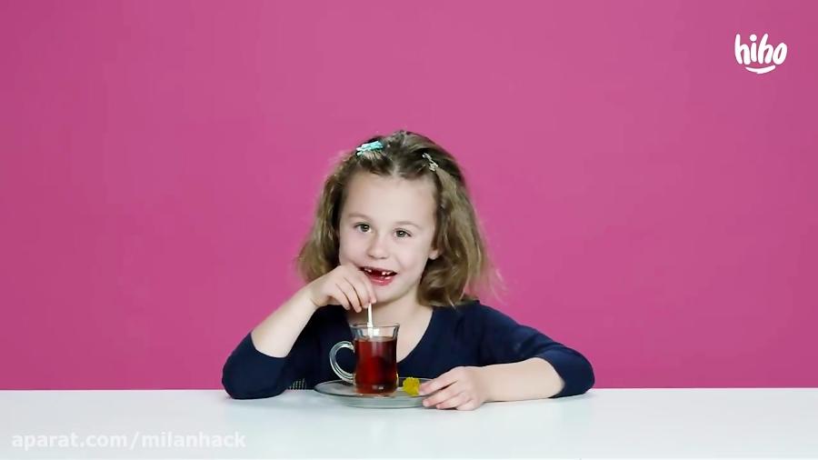 وقتی بچه های امریکایی هله هوله های ایرانی میخورند