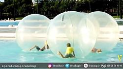 پیاده روی  روی آب؟؟ با اینا میشه رو آب راه رفت!!!!! حباب روی آب