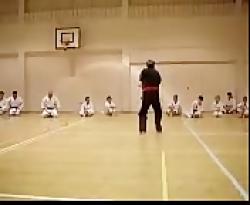 اجرای کاتا توسط بنیانگذار کاراته ایران