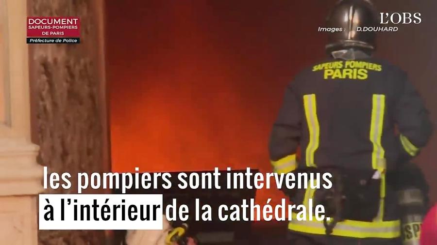 استفاده از ربات آتش نشان در آتش سوزی کلیسای نوتردام
