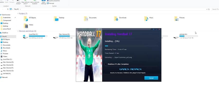 بازی PS3 اجرا بر روی کامپیوتر بازی HandBall 17