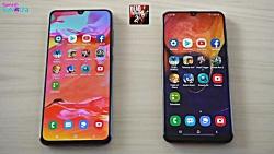 Samsung Galaxy A70 vs Galaxy A50 مقایسه گوشی