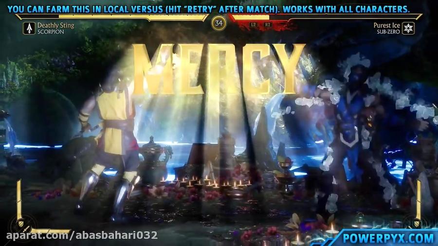 آموزش نشان دادن چگونگی کسب رحمت ( Mercy ) در مبارزات Mortal Kombat 11