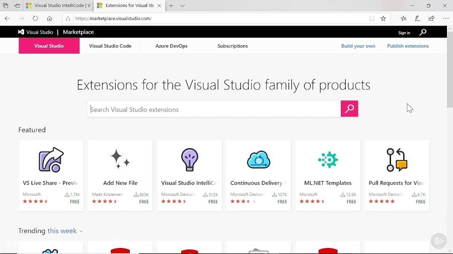 کورس Visual Studio - نسخه ی نمایشی: برنامه های افزودنی...