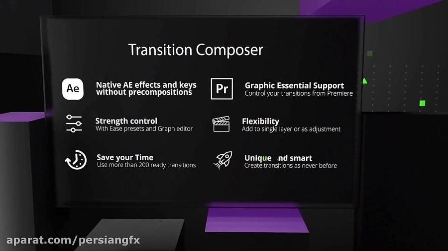 پیش نمایش ویدئویی کیت طراحی پارالاکس و ترانزیشن برای کلیپ سازی
