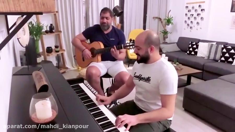 پیانو و گیتار آهنگ قمرین عمرو دیاب (Amr Diab - Amarein) آموزش پیانو-آموزش گیتار