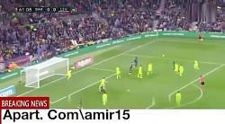 خلاصه لالیگا ، بازی بارسلونا 1 و لوانته 0{ گل لیونل مسی} قهرمانی بارسلونا