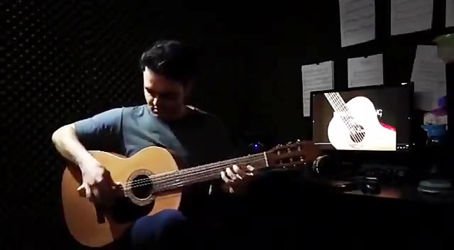 استفادهی تكنيكى از پيكادو و لگاتو در فاراون گیتار فرزین نیازخانی