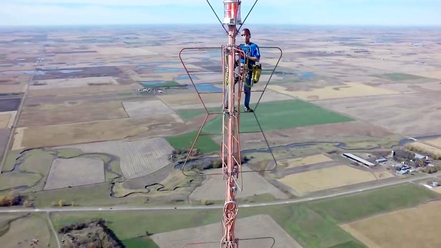 1500' TV Tower بالا رفتن از دکل تلوزیون