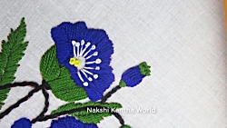 Hand Embroidery; Flower Embroidery Designs by Nakshi Kantha World