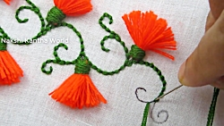 Hand Embroidery; Easy Embroidery Tricks; Tassel Flower Stitch