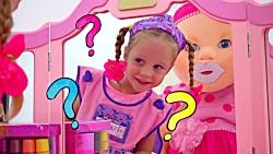 استیسی با وسایل آرایشی اسباب بازی بازی میکنه