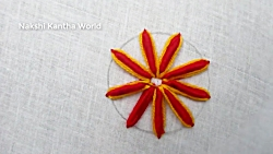 Hand Embroidery Flower, Bullion Knot Stitch, Easy Flower Embroidery