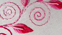 Hand Embroidery, Border Line Design Tutorial, Back stitch
