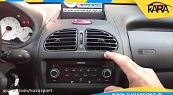 نصب مولتی مدیا به روی خودرو پژو 206