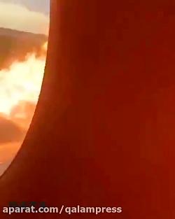 تصاویر آتش سوزی کابین ه...