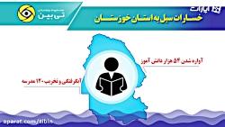 خسارت های سیل به خوزستان! سیل خوزستان را ویران کرد...حتما ببینید