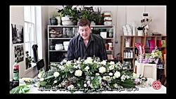 گل آرایی خاص میز با گل طبیعی