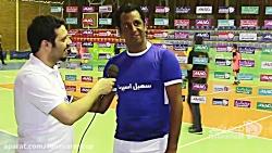 مصاحبه جناب آقای علی موسوی مسابقات فوتسال جام رمضان پیشكسوتان (جام ایراکام)
