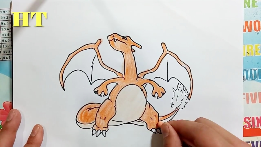 How to Draw Pokemon Coloring Pages - Draw charizard From pokemon