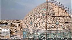 مسجدی با معماری منحصربفرد و گنبدی خیره کننده