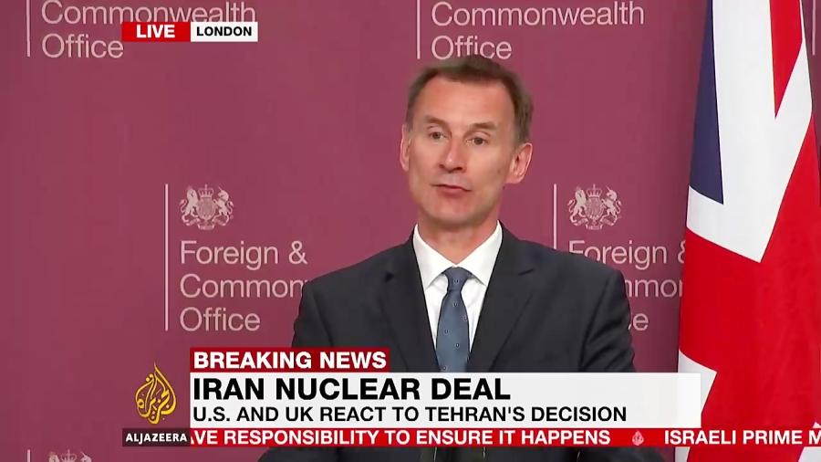 دیدار پمپئو از انگلیس درخواست کمک از انگلیس علیه ایران