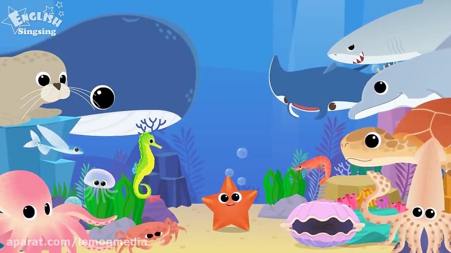 اموزش زبان انگلیسی کودکان - حیوانات دریایی