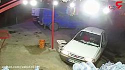 لحظه شلیک گلوله به سر و قتل راننده پراید در خوزستان