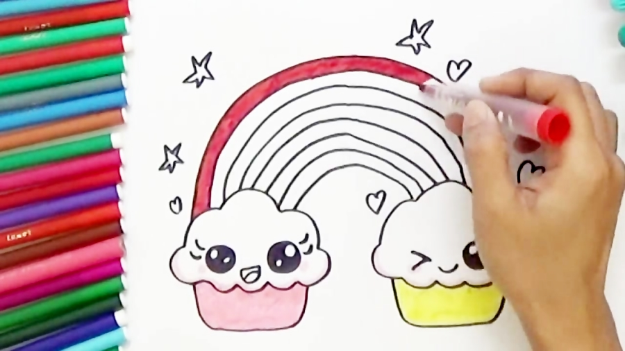 How To Draw Color Cute Pizza Slice Easy Bodraw
