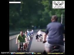 جاده دوچرخه رو در وسط د...