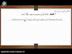 ویدیو کوتاه آموزش دانش ادبی درس دوم فارسی هشتم