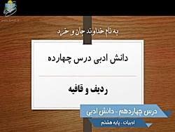 ویدیو آموزشی دانش ادبی درس14 فارسی هشتم