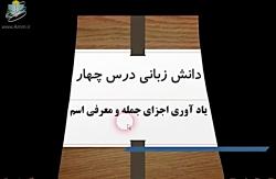 ویدیو آموزش دانش ادبی درس چهارم فارسی هشتم