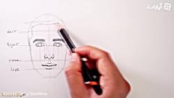 آموزش ساده  طراحی چهره بسیار