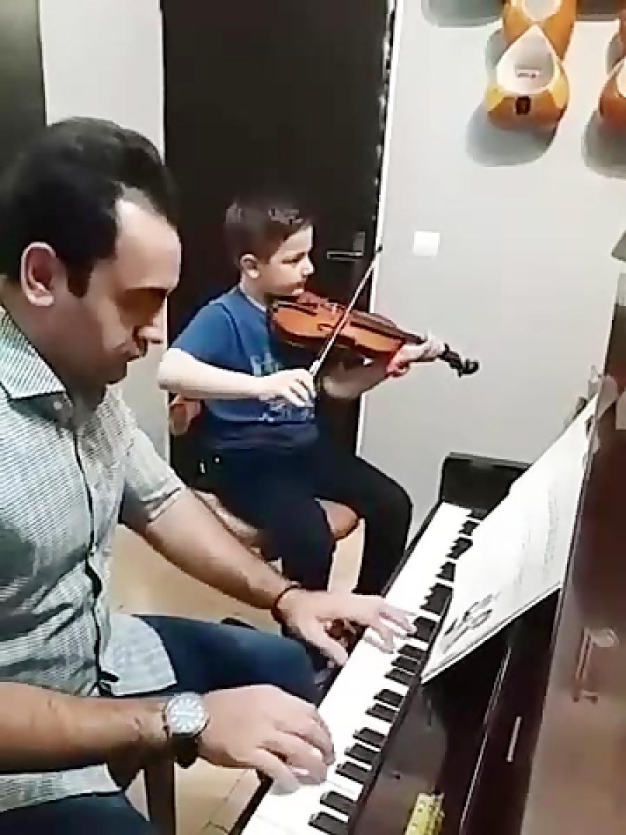 رادین ظفری آهنگ ساعت هنرجوی ایمان ملکی ویولن