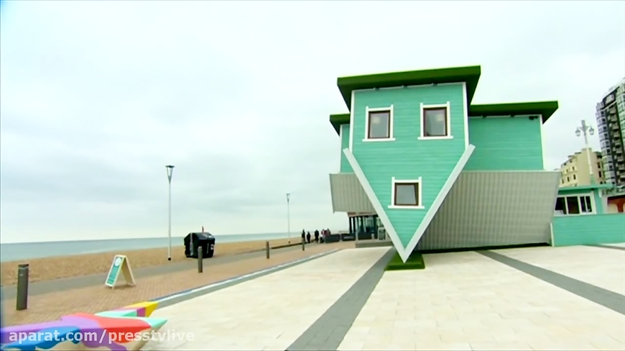 'Upside Down House' turns heads in Brighton, England