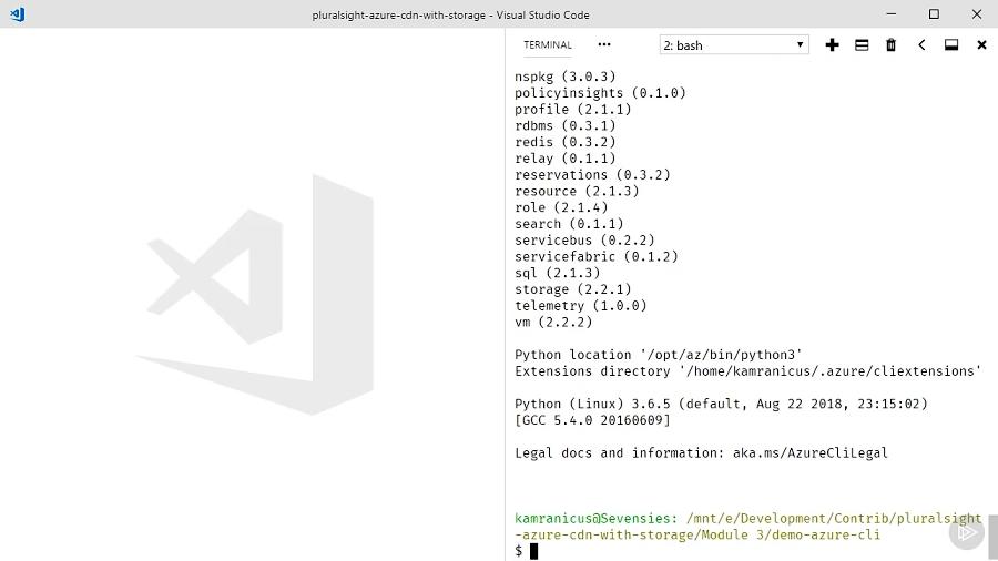دوره آژور - فعال کردن CDN با استفاده از Azure CLI
