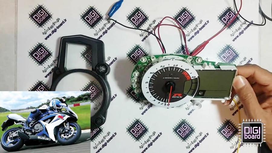 تعمیر کیلومتر شمار موتور سیکلت سوزوکی