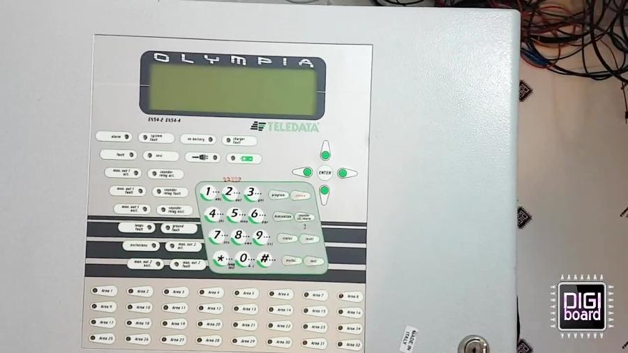 تعمیر سیستم فایر آلارم و اعلان حریق تله دیتا TeleData