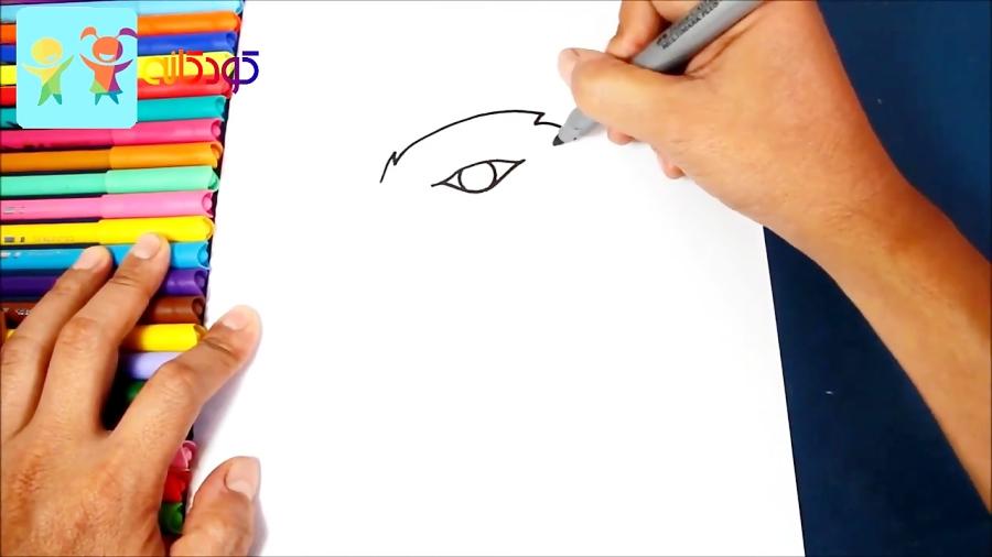 عقاب تیز چشم - آموزش نقاشی کودکان - کانال کودکانه