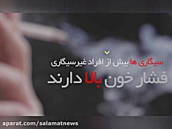 رابطه استعمال سیگار با ...