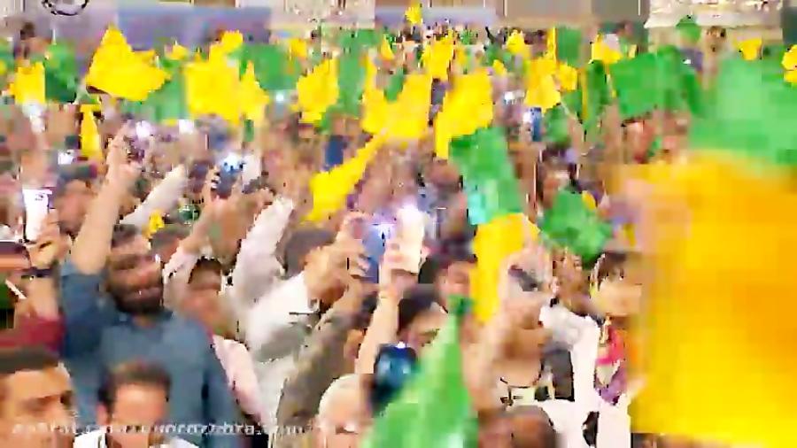 سرود «روی لبا ناد علی میاد...»  شب پانزدهم ماه رمضان ۱۳۹۸ محمود کریمی