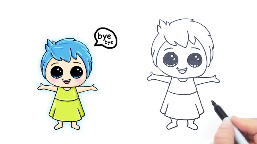 How to Draw Fear from Pixar Inside Out Cute step by step