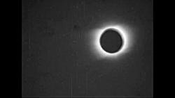اولین ویدیویی که از خورشیدگرفتگی در سال 1900 ضبط شده است
