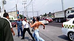 درگیری و دعوای شدید خیابانی